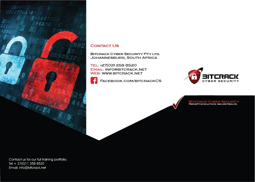 bitcrack cyber security tri fold pamphlet design pixelmagic